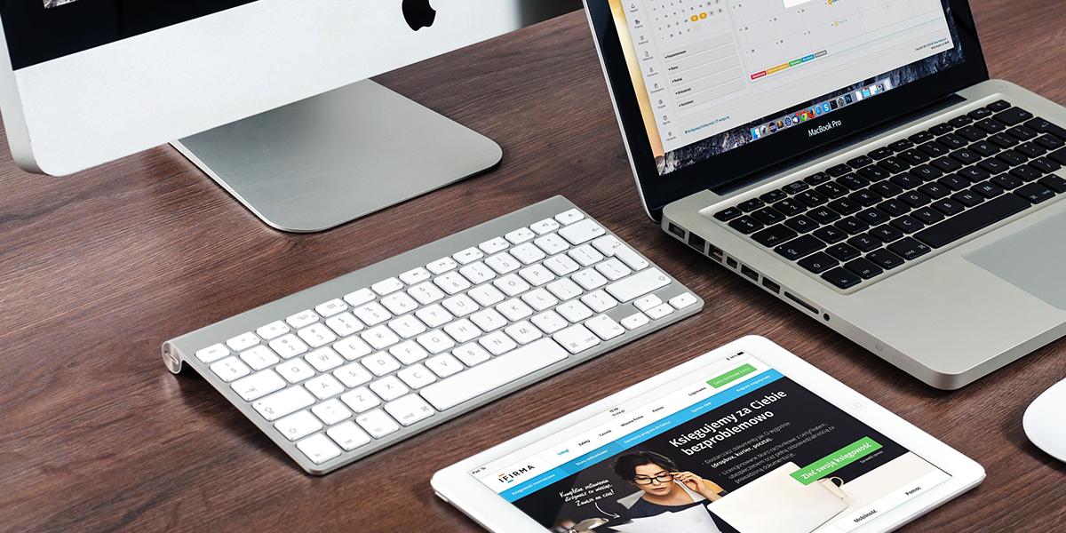 web portal developer, web portal development, portal, laptop with an image on